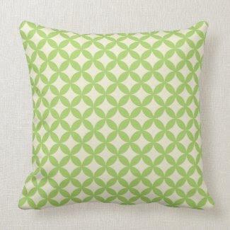 Modern Green Pattern Pillow mojo_throwpillow
