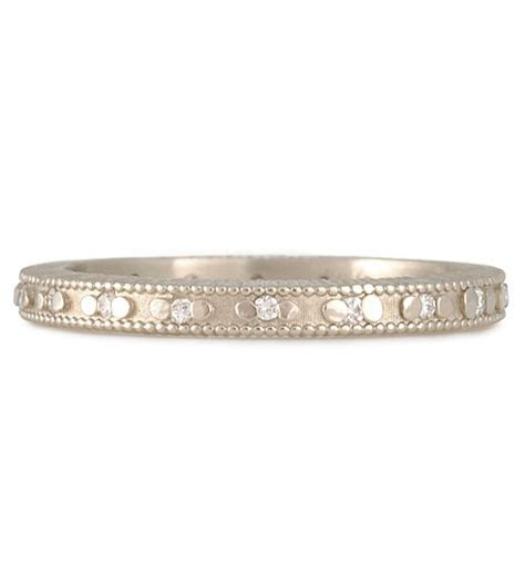 "MEGAN THORNE  Ribbed Eternity Band   ""Not a Meringue in"