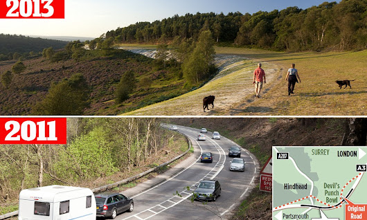 A3 road is transformed by a miracle of engineering