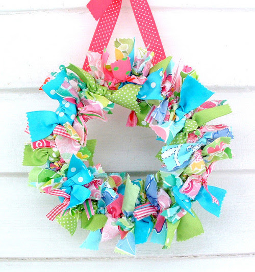 ragwreath:  lilly pulitzer preppy rag wreath on Flickr.