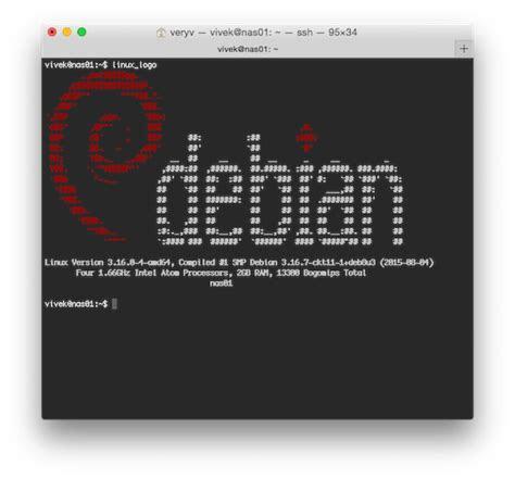 display awesome linux logo  basic hardware info