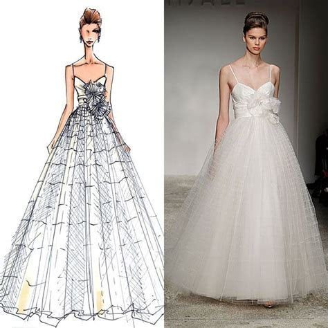 17 Best images about Wedding dress sketches on Pinterest