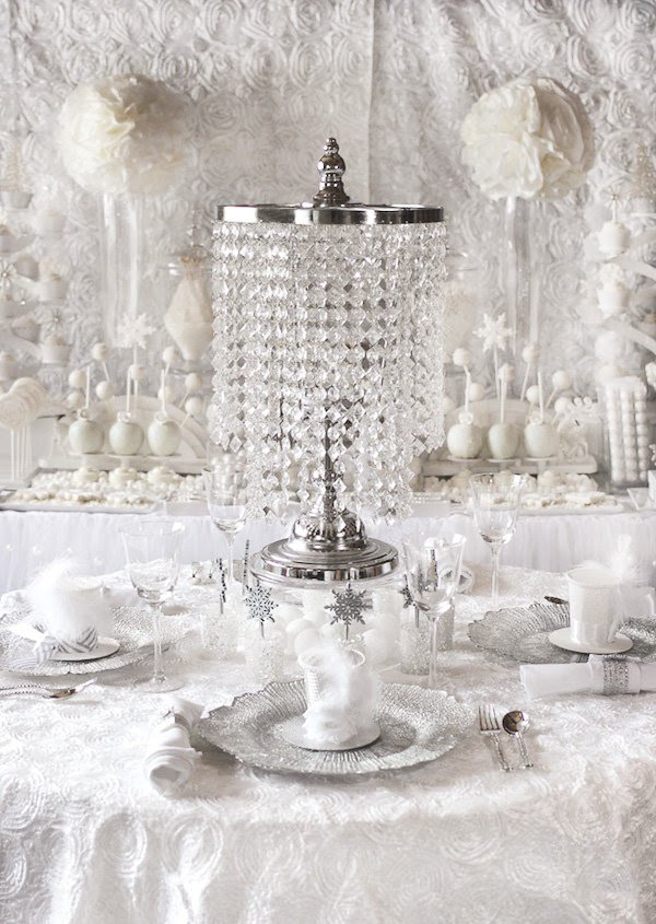 Trend Alert All White Bridal Showers Winter Theme Hostess