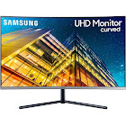 "Samsung - 31.5"" LCD Curved 4K UHD Monitor - Dark Blue Gray"