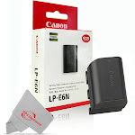 Genuine Canon LP-E6N Lithium-Ion Battery Pack for Canon EOS 5DS, 5DS R, 60D, 60Da, 70D, 80D, 6D, and 6D Mark II