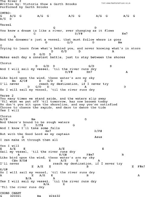 The River Lyrics Garth Brooks Chords