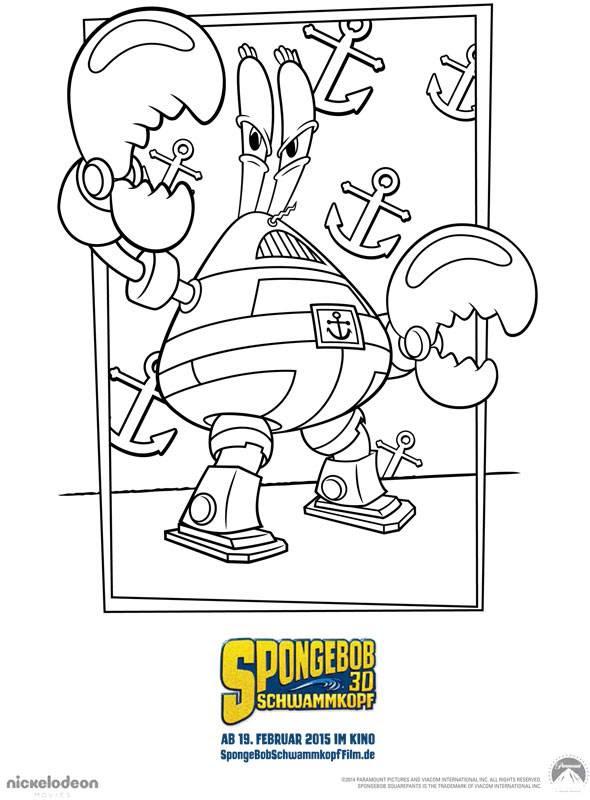 spongebob zum ausmalen