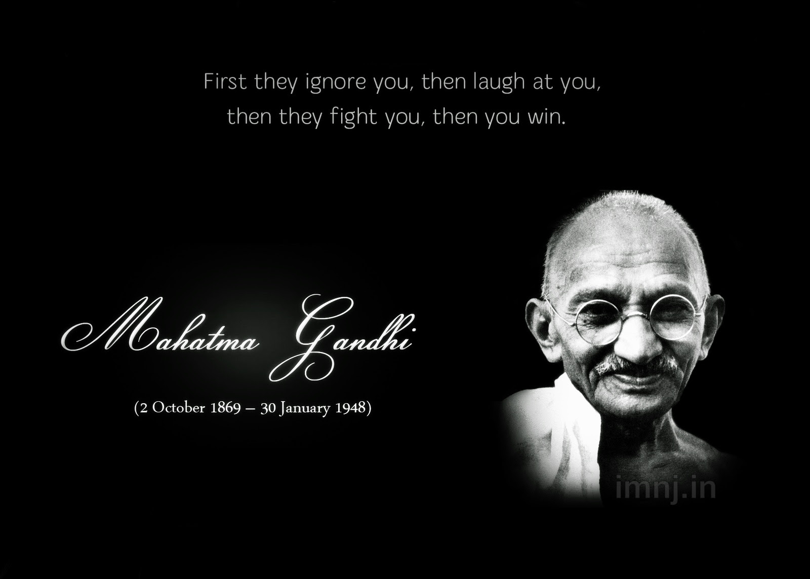 By Mahatma Gandhi Then Laugh At You People Quotes Quotespicturescom
