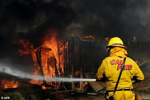 California struck once more by devastating infernos #california  More than a thousand firefighters were...