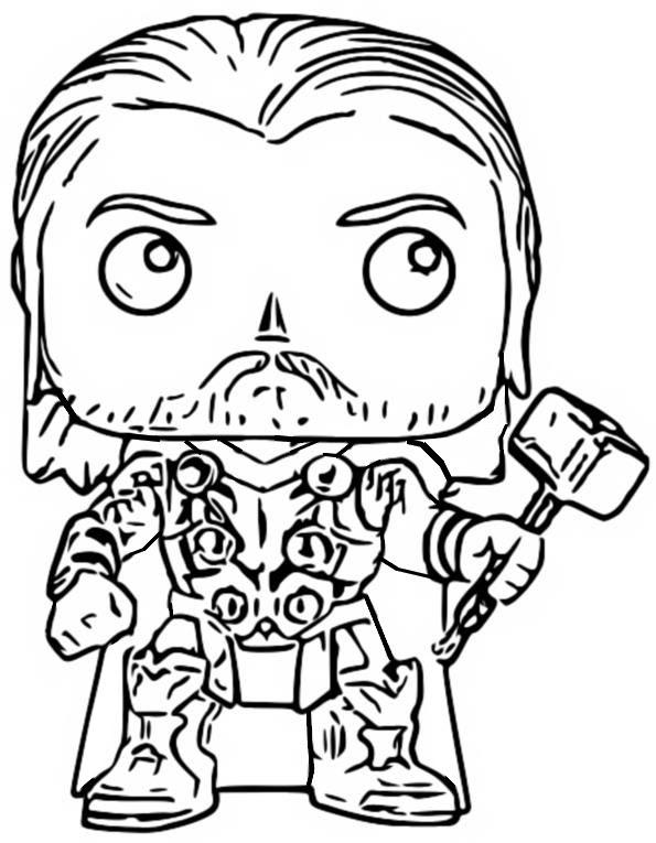 Para Colorear A Thor - Para Colorear