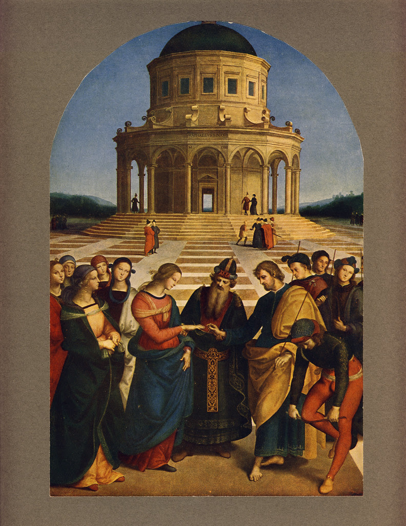 Marriage Of The Virgin Raphael 1483