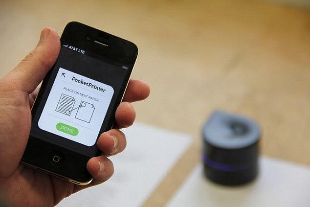 आप इसे मुद्रित करना चाहते हैं क्या छोटा रोबोट बताने के लिए अपने स्मार्टफोन का उपयोग कर सकते हैं