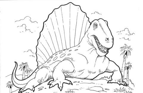 Ausmalbild Dimetrodon Dinosaurier Ausmalbilder Kostenlos Zum Ausdrucken