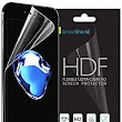 Amazon.com: iPhone 7 Screen Protector, [Ultra Clear HD][Full Coverage] GreatShield HDF Anti-Bubble Silicone Layer [TPU Film | 4H Technology] Shield for Apple iPhone 7 / 6s / 6 Lifetime Warranty - 2 Pack: Electronics