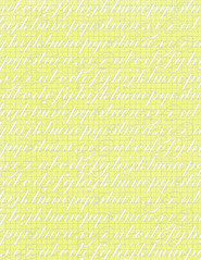 11 Chartreuse GF typography script paper - standard or letter size 350dpi