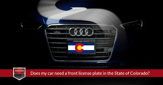 Does my car need a front license plate in the State of Colorado?