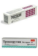 Фото Троксевазин и Троксерутин