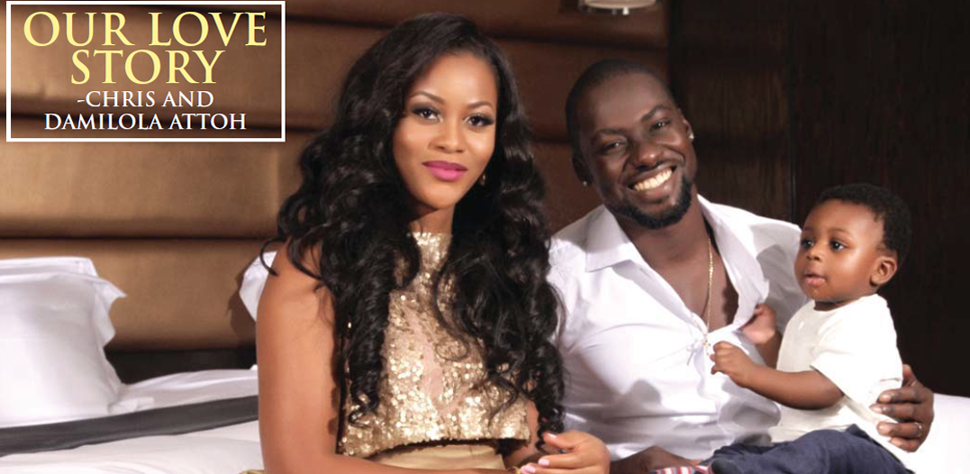 Image result for photos of chris attoh and wife