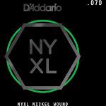 D'Addario NYNW070 NYXL Nickel Wound Electric Guitar Single String .070