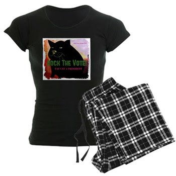 Rock The Vote! Fat Cat 4 Prez Women's Dark PJs