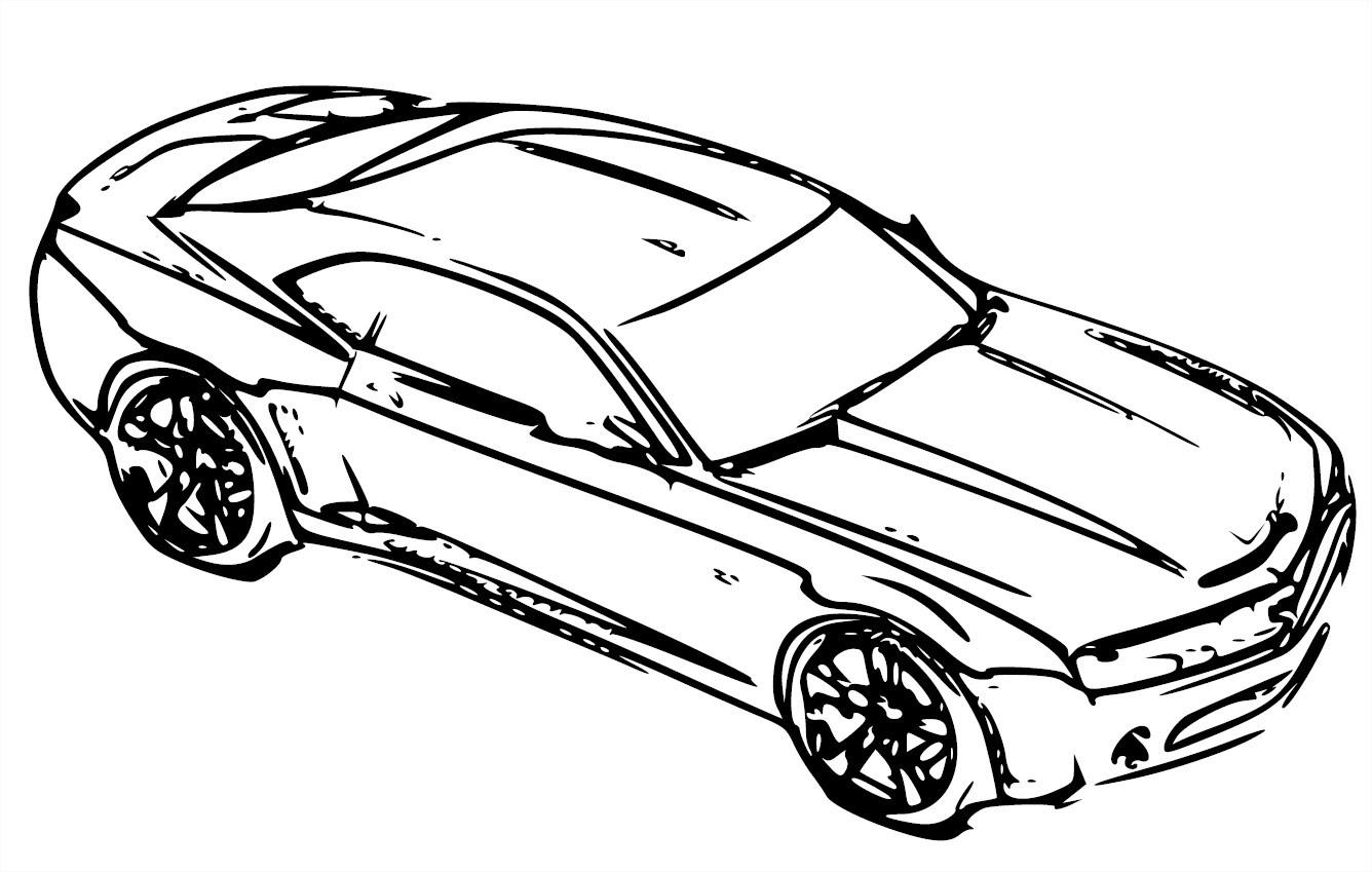 Coloriage  imprimer Véhicules Voiture Chevrolet numéro