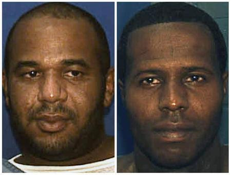 Escaped convicts Joseph Ivan Jenkins (L) and Charles Walker are shown in this combination of undated booking photos provided by the Florida Department of Corrections October 17, 2013. REUTERS/Florida Dept of Corrections/Handout via Reuters