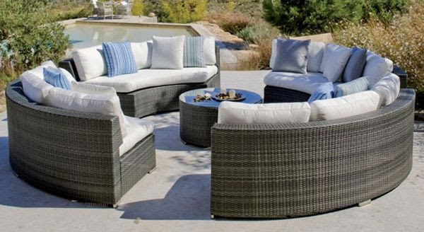 Decoracion mueble sofa muebles jardin rattan sintetico for Sofa exterior rattan sintetico