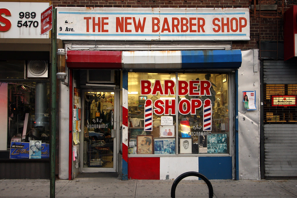 The not at all new barber shop