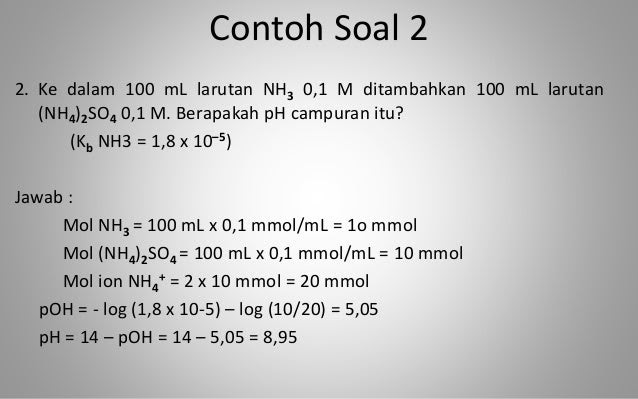 32++ Contoh Soal Menghitung Ph Campuran Asam Dan Basa ...