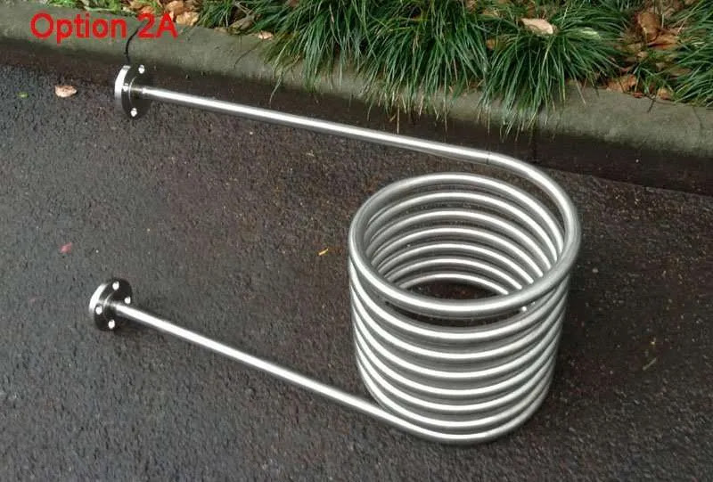 Stainless Steel Coil Heat Exchanger For Dutch Tubwood Fired Hot Tub