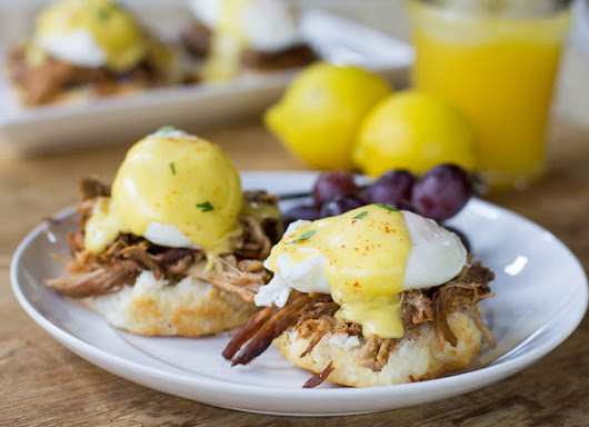 SPICY PULLED PORK EGGS BENEDICT