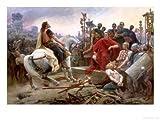Vercingetorix Throws Down His Arms at the Feet of Julius Caesar, 1899 Giclee Print (12 x 9 in)