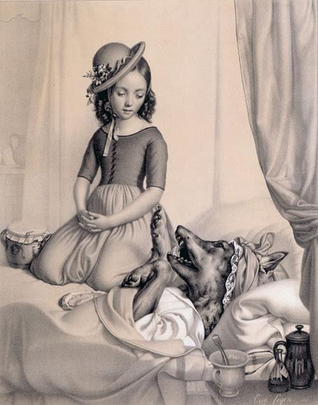 Eugene Feyen. Красная Шапочка и волк / Little Red Riding Hood