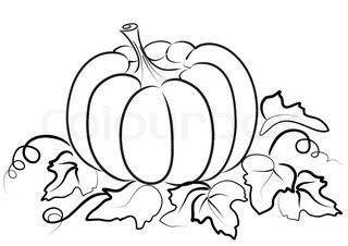 Pumpkin Leaf Drawing At Getdrawingscom Free For Personal Use