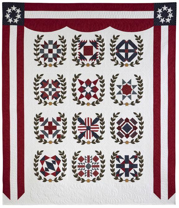 Remembering Almo: Kansas City Star's free block of the month pattern for 2014 honors World War One veterans. Striking design! http://www.pickledish.com/2014/01/19/2014-block-of-the-month-quilt-debuts-and-free-block-1-download/