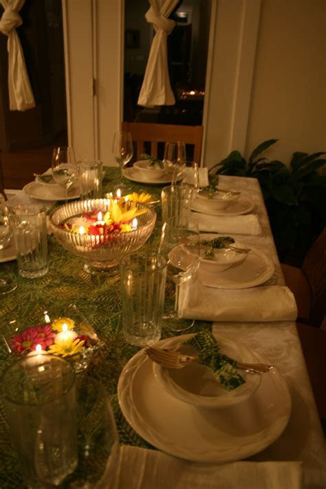 Tablescape for Thai dinner party   Grown up Party Decor in