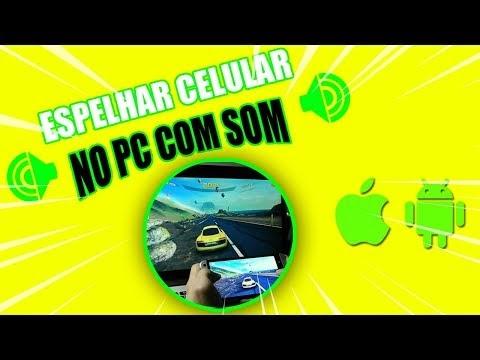 ESPELHAR CELULAR NO PC COM AUDIO! Android ou iPhone   WIFI ou CABO USB