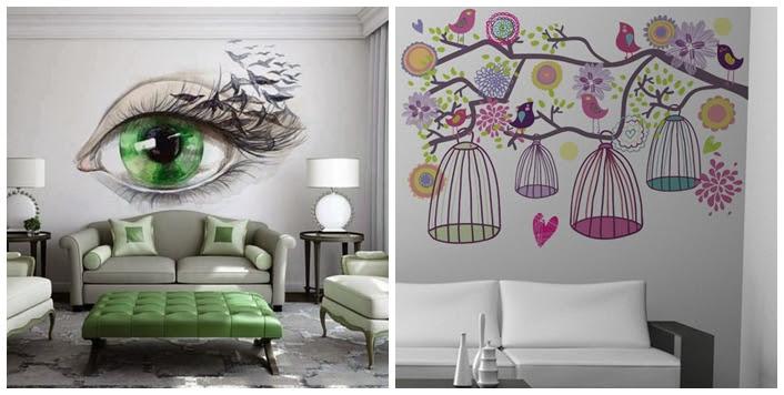 Dekoratif Italyan Duvar Boyama örnekleri Trend Moda Duvar Boyama