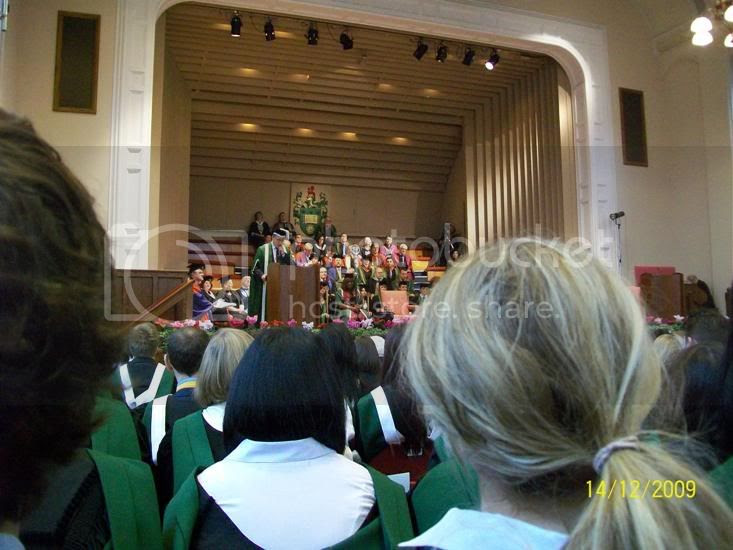 The Degree Congregation in action