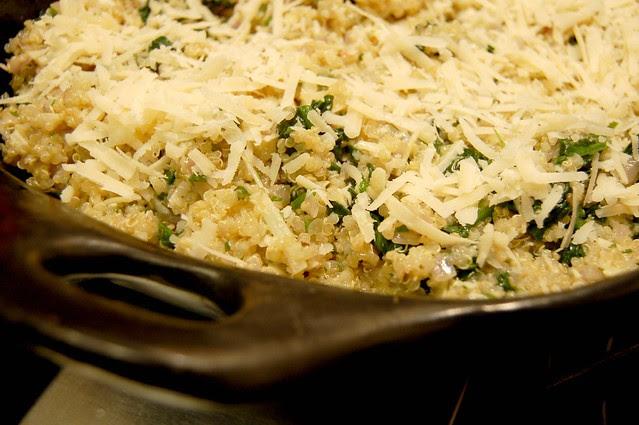 Quinoa Spinach Gratin - Pre-Baking by Eve Fox, Garden of Eating blog, copyright 2008