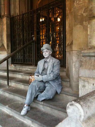 Silver man, West Village