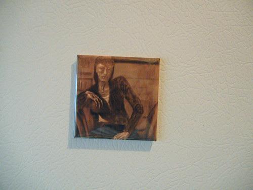 """Zazzle Magnet - Oil Painting """"Orange"""" (in sepia tones) _ 7776"""