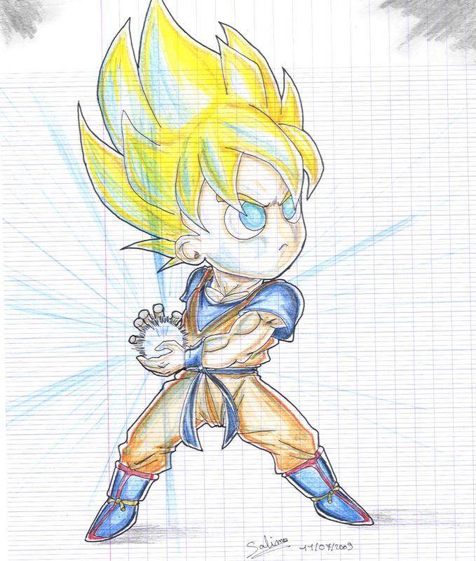 Son Goku Super Saiyan Dessin Facile