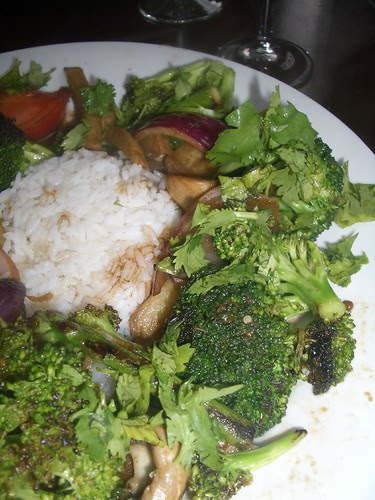 Vegetarian entree from Lima's Taste