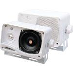 Pyle 3.5 200-Watt 3-Way Weather-Proof Mini Box Speaker System-White