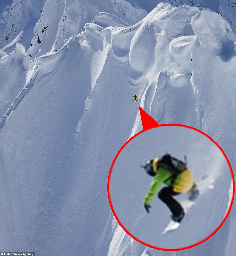 These inclines are unlike any other most regular skiers have taken on, and it's clear to see why