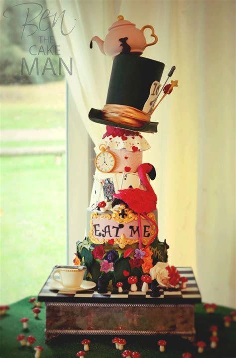 Mad hatter's tea party wedding cake.   2015   Pinterest