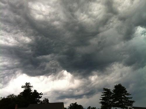 cloud swirls over head