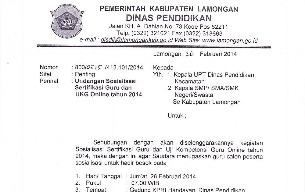 Contoh Surat Undangan Dinas Pendidikan