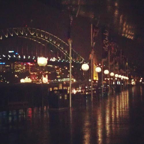 Sydney's Circular Quay by night.